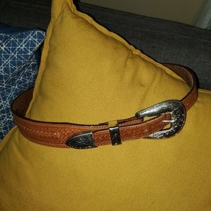 Tony Lama Leather Belt Size 30 Waist